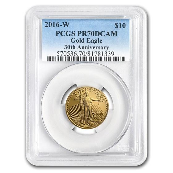 2016-W 1/4 oz Proof Gold American Eagle PR-70 PCGS