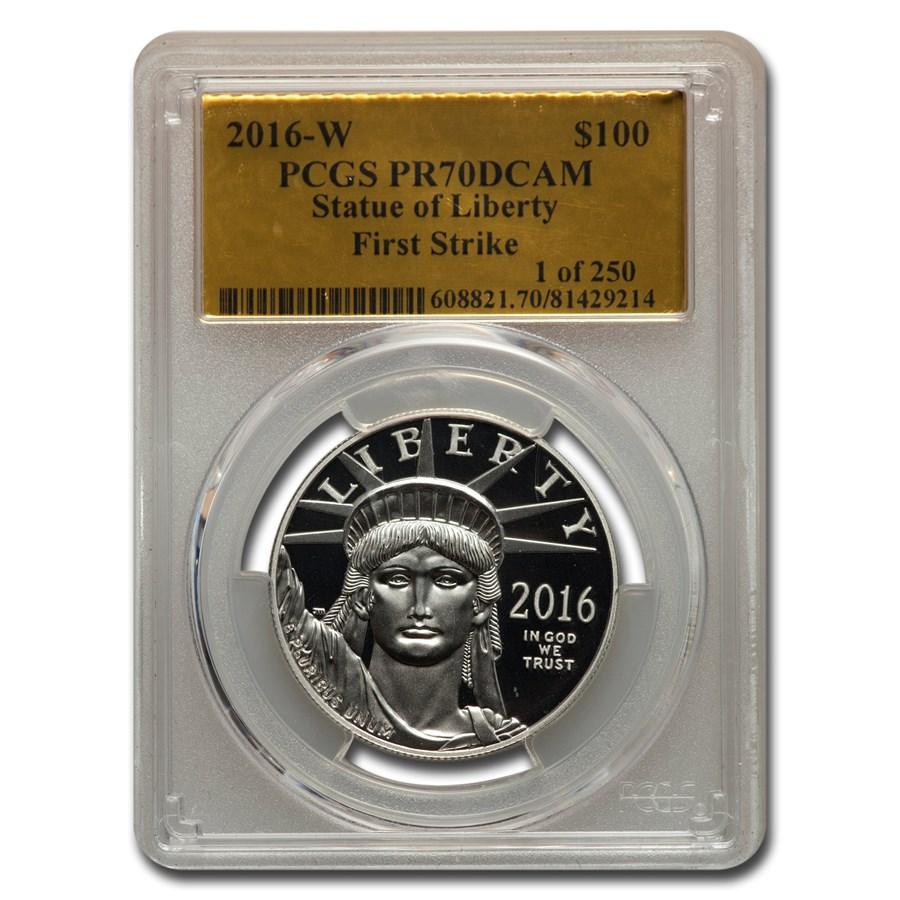 2016-W 1 oz PR American Platinum Eagle PR-70 PCGS (FS Gold Foil)