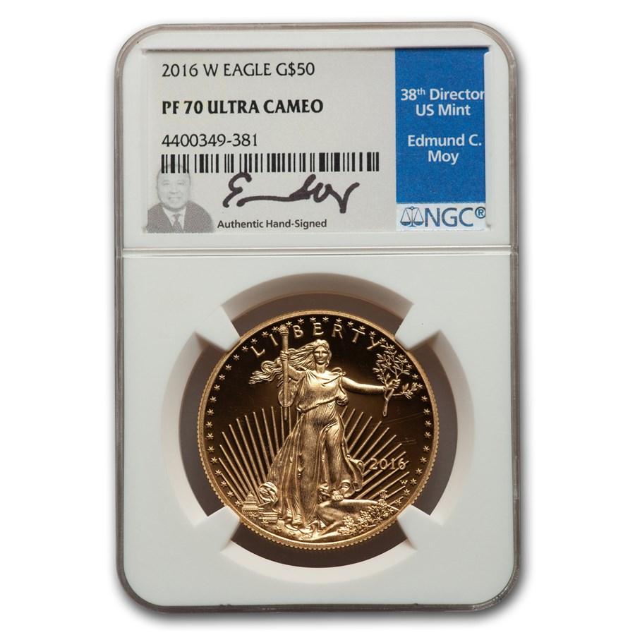 2016-W 1 oz Proof American Gold Eagle PF-70 NGC (Moy)