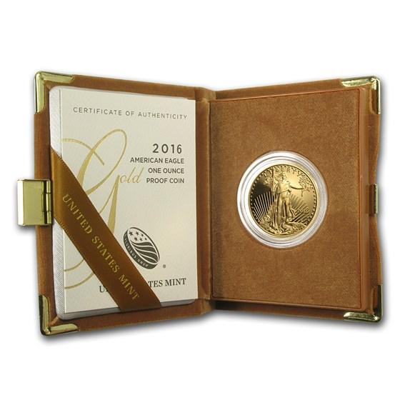 2016-W 1 oz Proof American Gold Eagle (w/Box & COA)