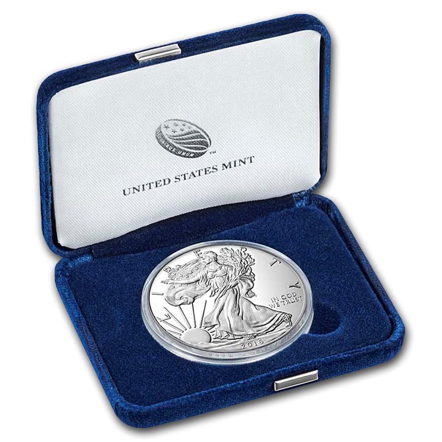 2016-W 1 oz Proof American Silver Eagle (w/Box & COA)
