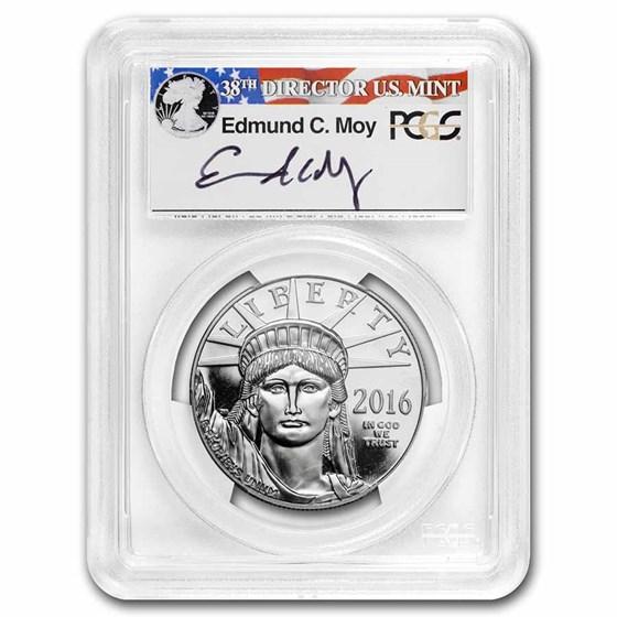 2016-W 1 oz Proof Platinum Eagle PR-70 DCAM PCGS (FS, Moy Signed)