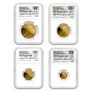 2016-W 4-Coin Proof Gold Eagle Set PF-70 NGC (ER-Buchanan)