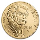 2016-W Gold $5 Commem Mark Twain BU (Capsule Only)