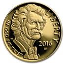 2016-W Gold $5 Commem Mark Twain Proof (w/Box & COA)