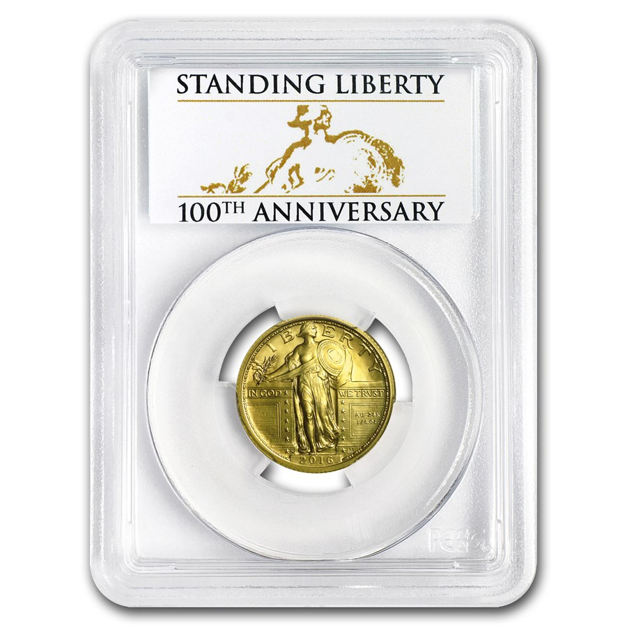 2016-W Gold Liberty Quarter SP-70 PCGS (FS, Centennial Label)