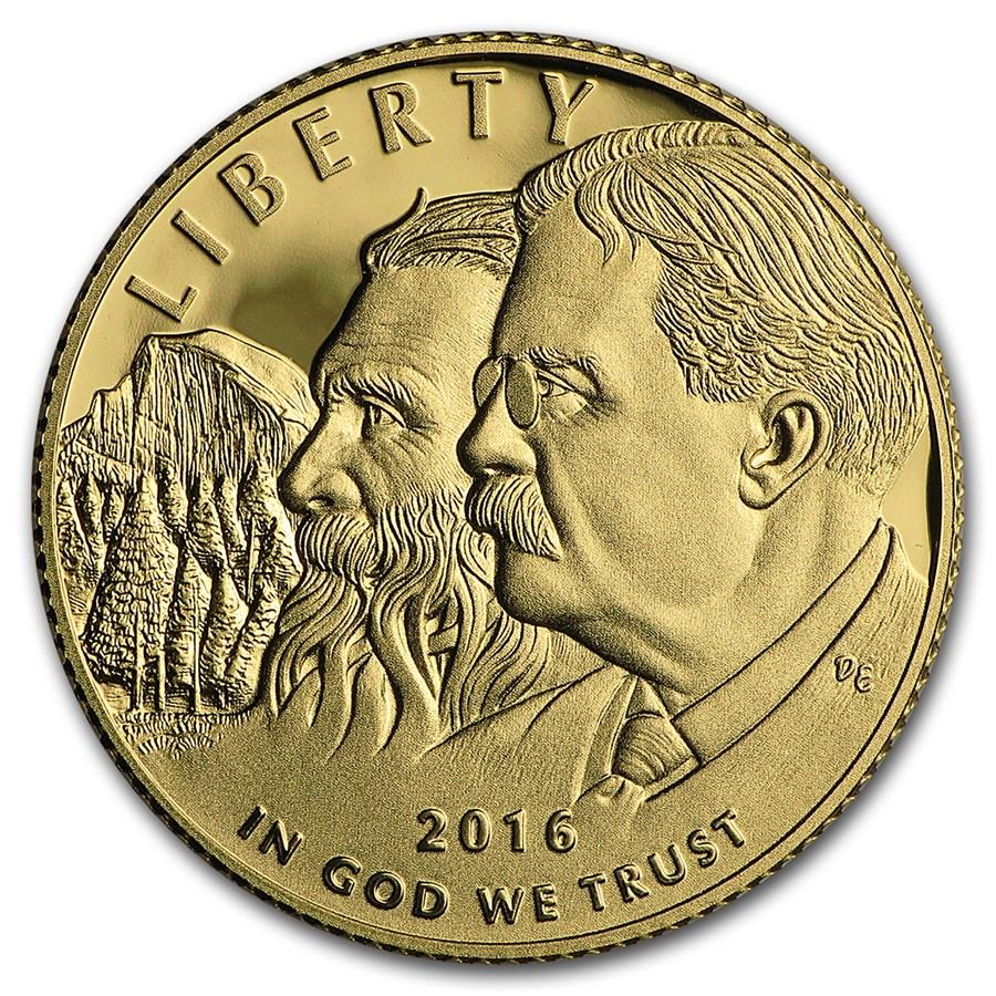 2016-W Gold National Park Service Centennial Proof (Box & COA)