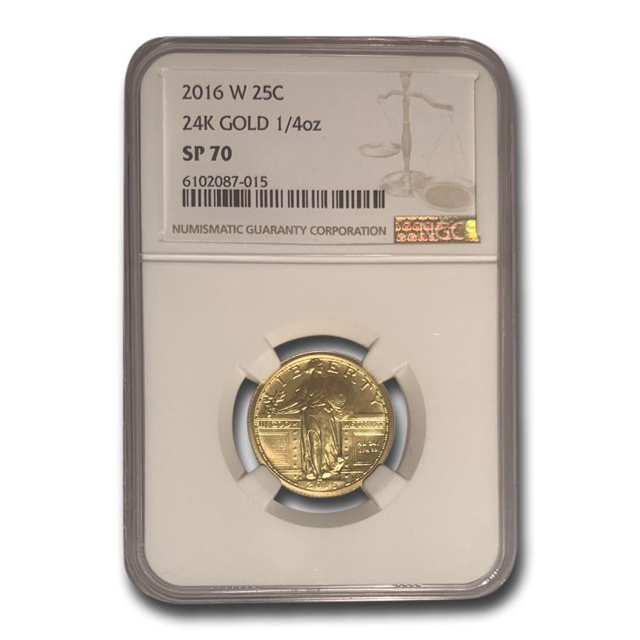 2016-W Gold Standing Liberty Quarter SP-70 NGC