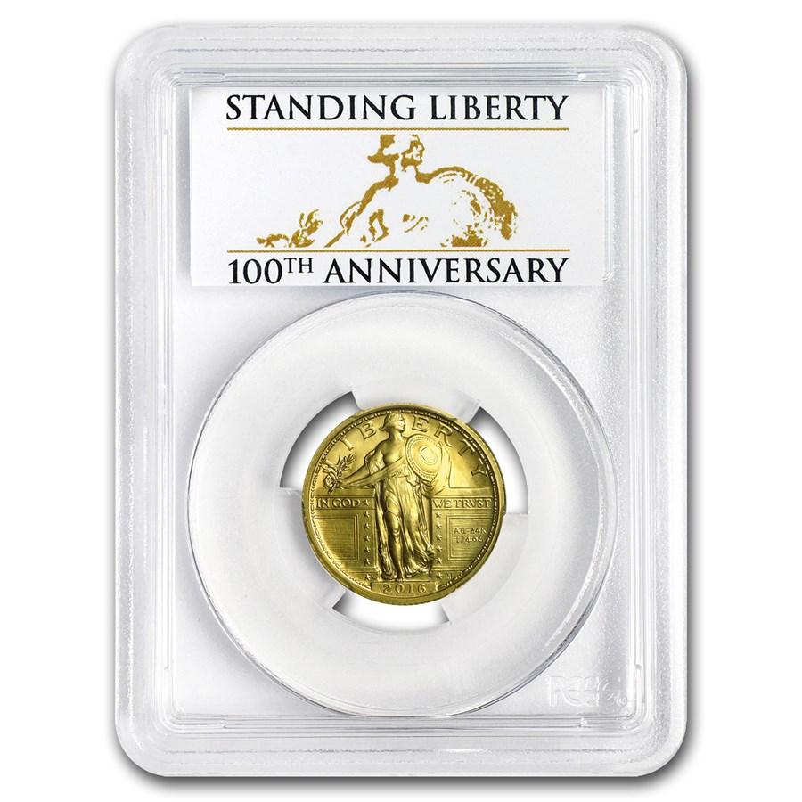 2016-W Gold Standing Liberty Quarter SP-70 PCGS