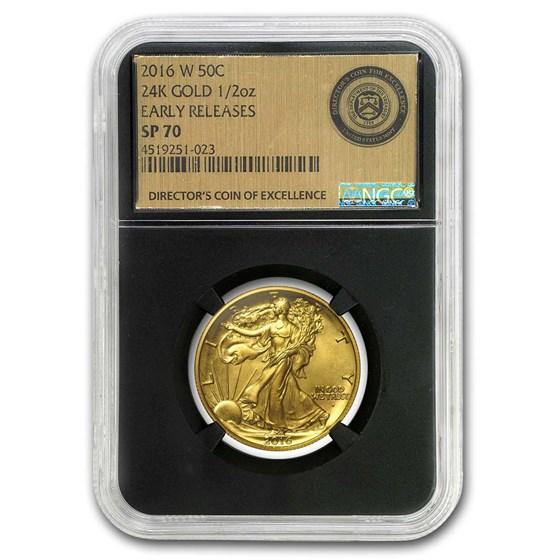 2016-W Gold Walking Liberty Half SP-70 NGC/PCGS (Mixed Labels)
