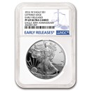 2016-W Proof American Silver Eagle PF-69 NGC (Early Release)