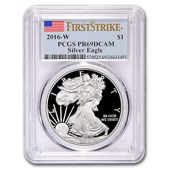 2016-W Proof Silver American Eagle PR-69 PCGS (FirstStrike®)