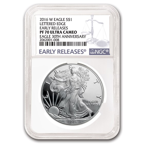 2016-W Proof Silver Eagle PF-70 NGC (Early Releases)