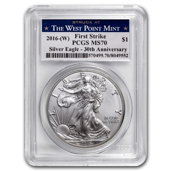 2016 (W) Silver American Eagle MS-70 PCGS (FirstStrike®)