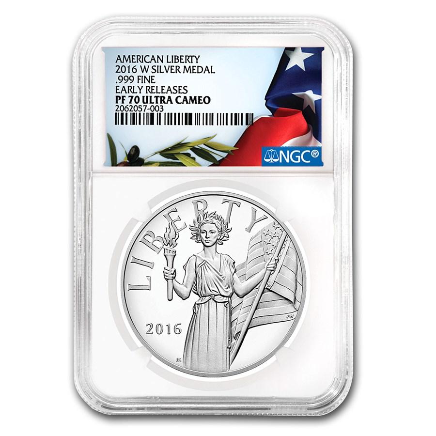 2016-W Silver American Liberty Medal PF-70 NGC (ER)