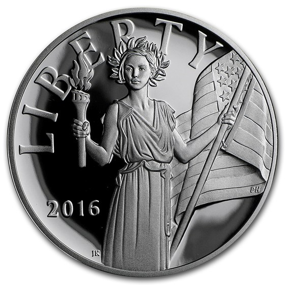2016-W Silver American Liberty Medal Proof (w/Box & COA)