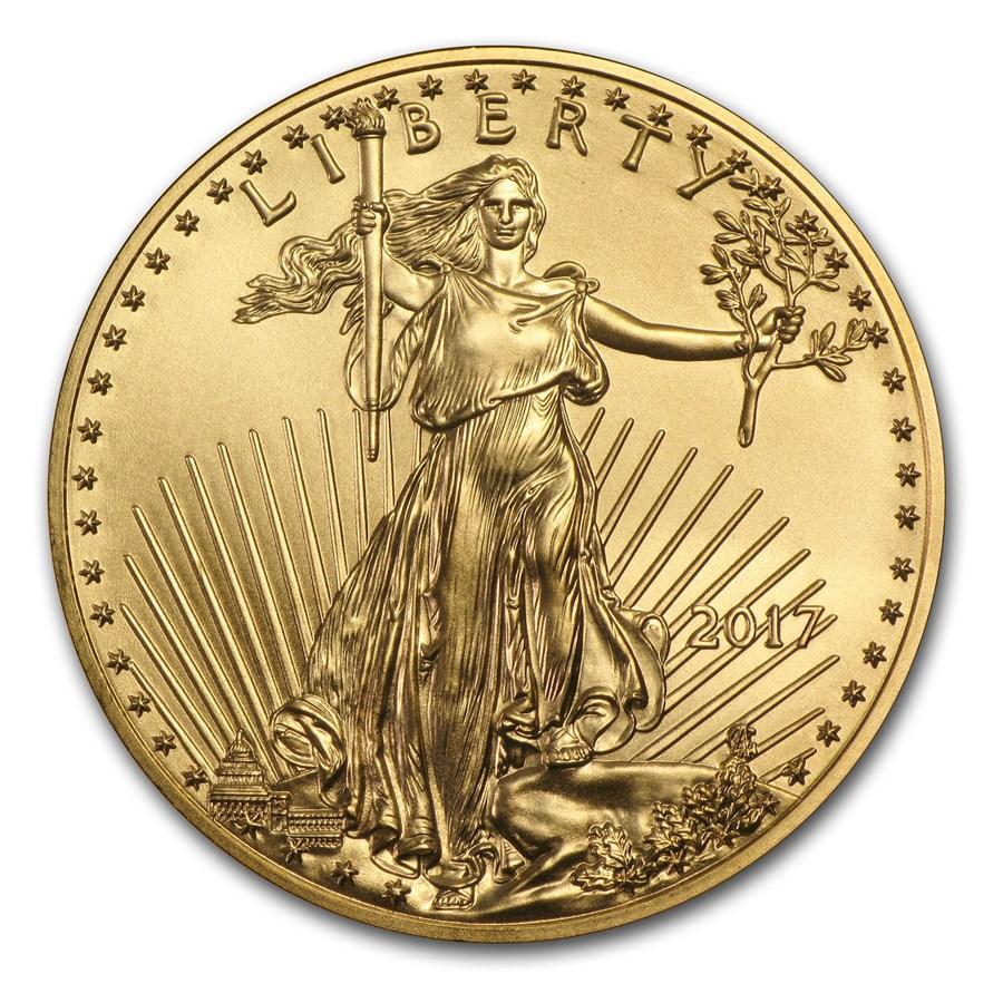 2017 1/10 oz Gold American Eagle BU
