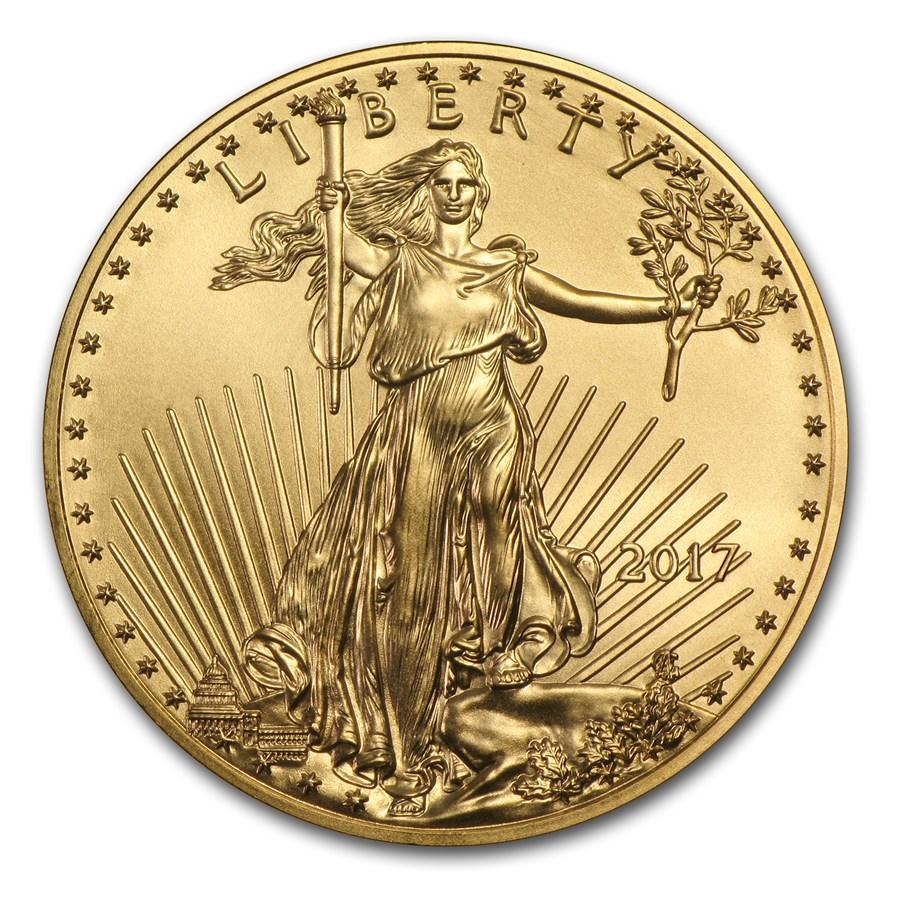 2017 1/2 oz American Gold Eagle BU