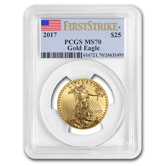 2017 1/2 oz American Gold Eagle MS-70 PCGS (FirstStrike®)
