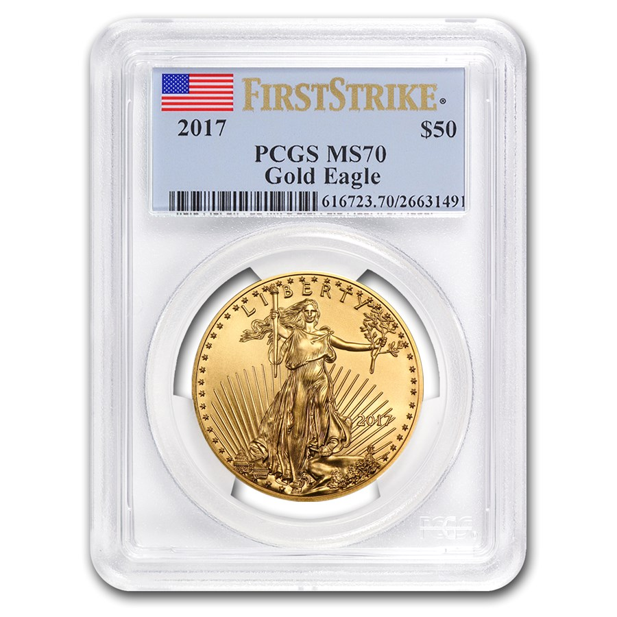 2017 1 oz American Gold Eagle MS-70 PCGS (FirstStrike®)
