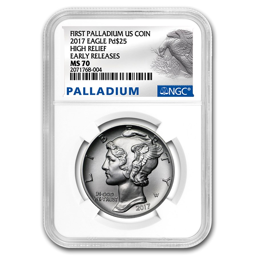 2017 1 oz American Palladium Eagle MS-70 NGC (Early Releases)