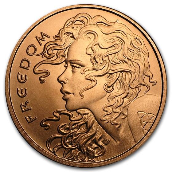 2017 1 oz Copper Round - Freedom Girl