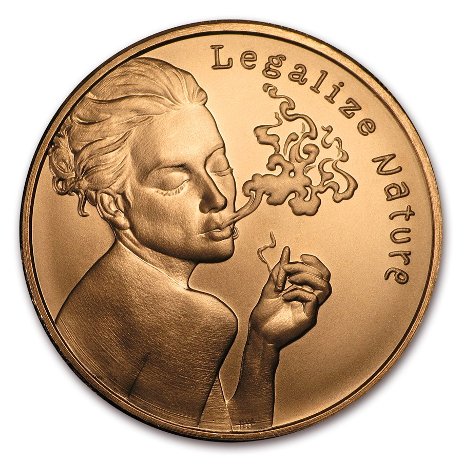 2017 1 oz Copper Round - Legalize Nature