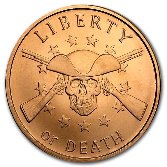 2017 1 oz Copper Round - Liberty or Death