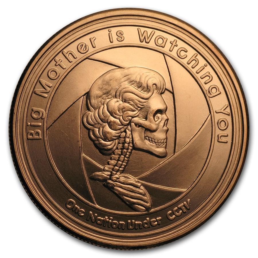 2017 1 oz Copper Shield Round - MiniMintage (Big Mother)