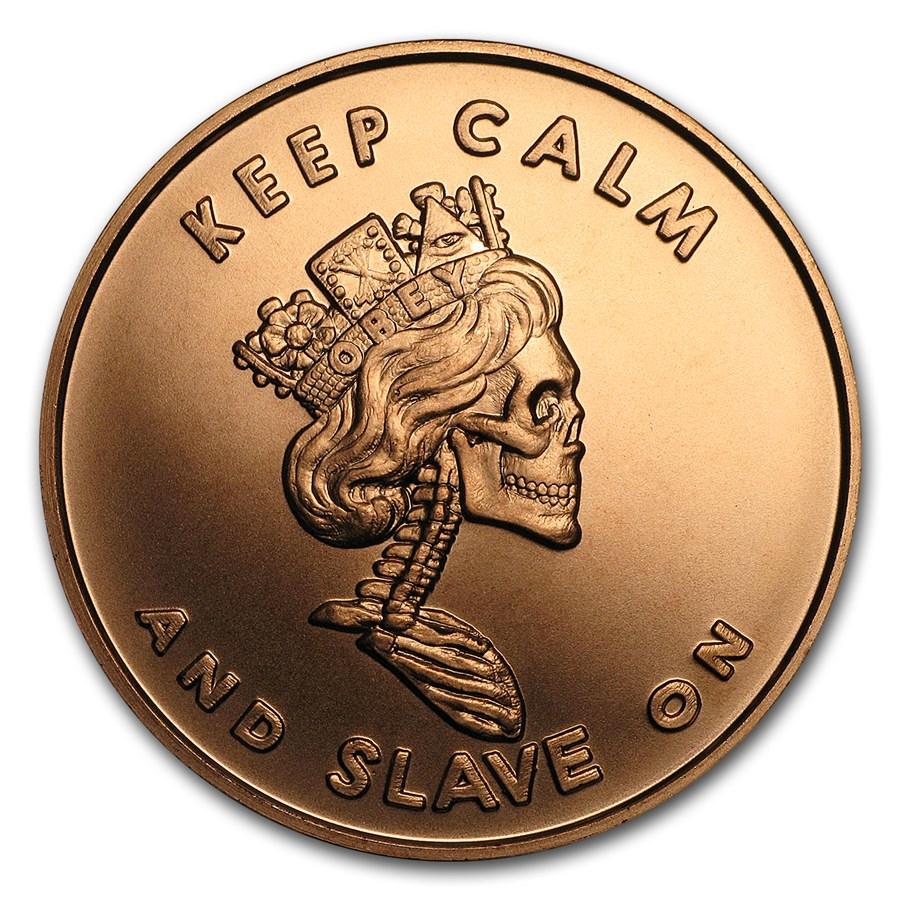 2017 1 oz Copper Shield Round - MiniMintage (Slave Queen)