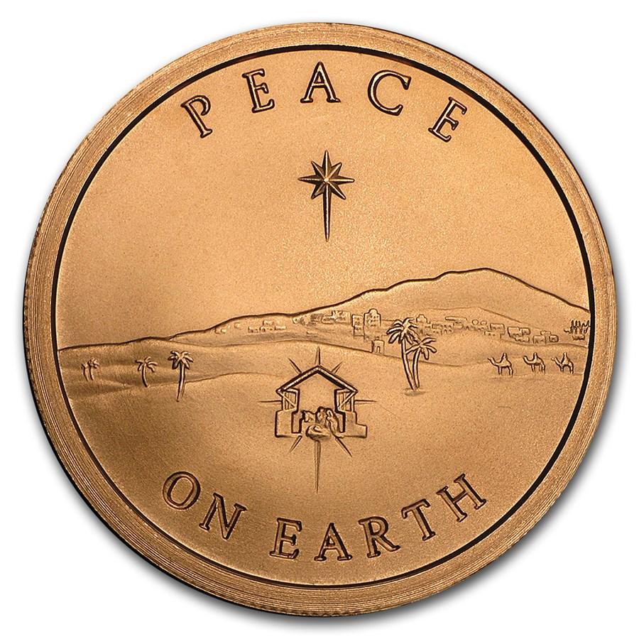 2017 1 oz Copper Shield Round - Peace on Earth