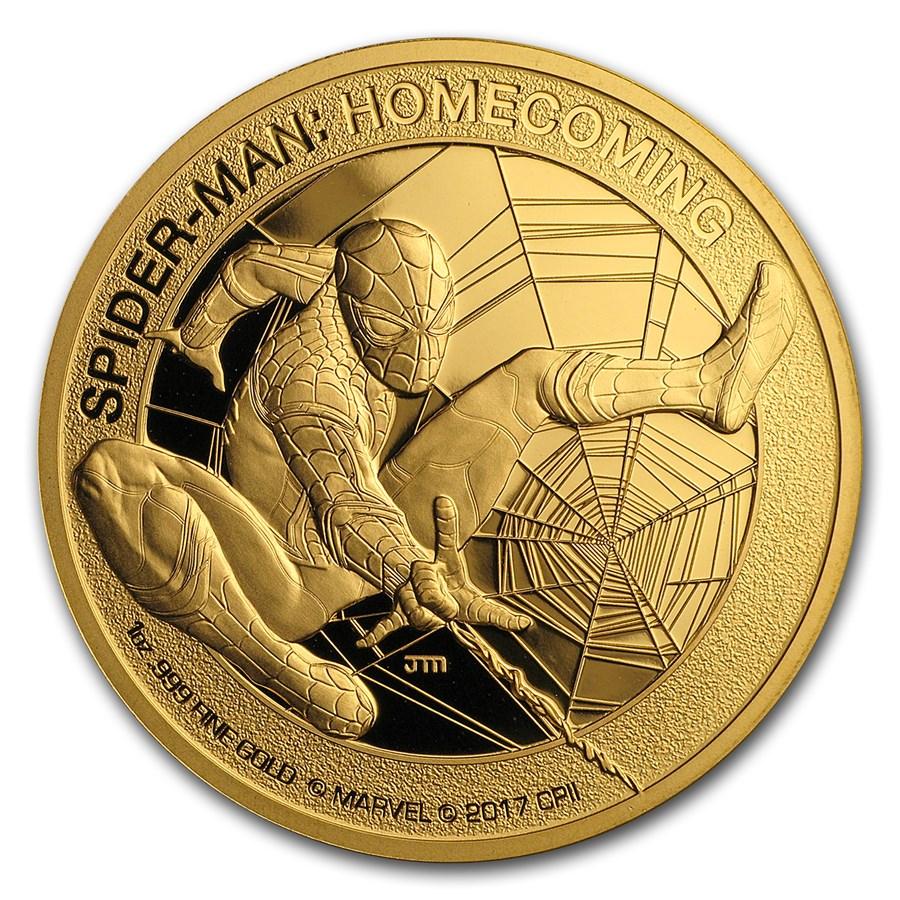 2017 1 oz Gold $200 Mercanti-Designed SPIDERMAN™ Gem Proof