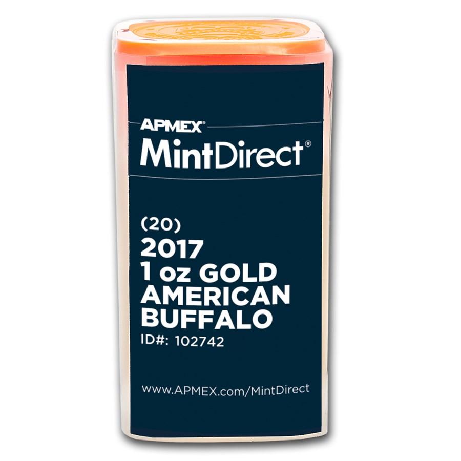 2017 1 oz Gold American Buffalo (20-Coin MintDirect® Tube)