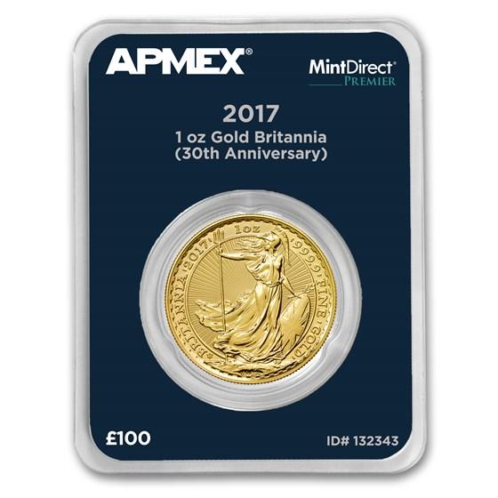 2017 1 oz Gold Britannia 30th Anniversary (MintDirect® Premier)