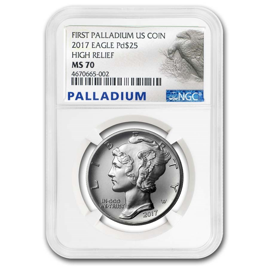 2017 1 oz Palladium American Eagle MS-70 NGC