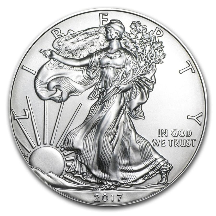 2017 1 oz Silver American Eagle BU