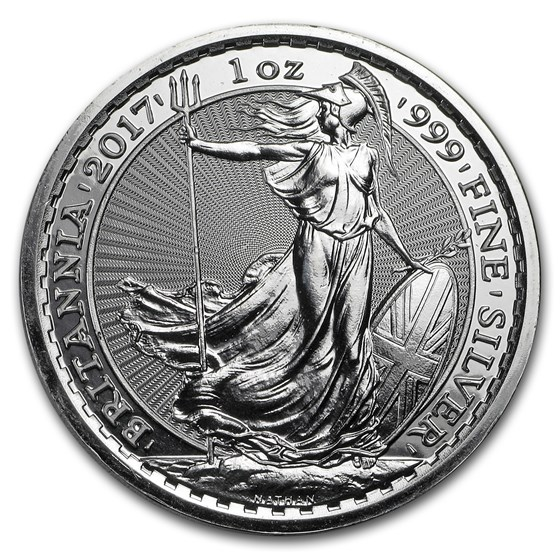 2017 1 oz Silver Britannia BU (w/Year of the Rooster Privy Mark)