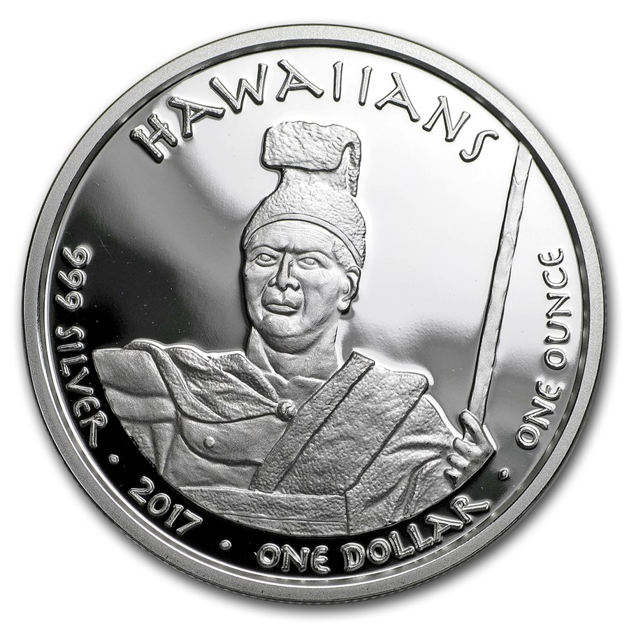 2017 1 oz Silver Proof State Dollars Hawaii Monk Seal