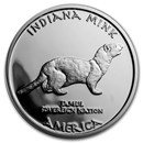 2017 1 oz Silver Proof State Dollars Indiana Miami Mink