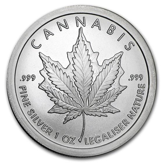 2017 1 oz Silver Shield Round - Cannabis