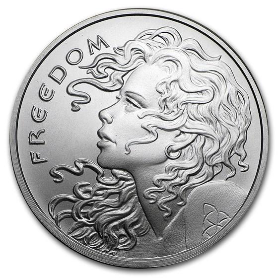 2017 1 oz Silver Shield Round - Freedom Girl