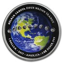 2017 1 oz Silver Solar Eclipse Curved Proof Coin