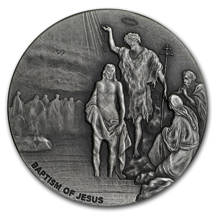 2017 2 oz Silver Coin - Biblical Series (The Baptism of Jesus)