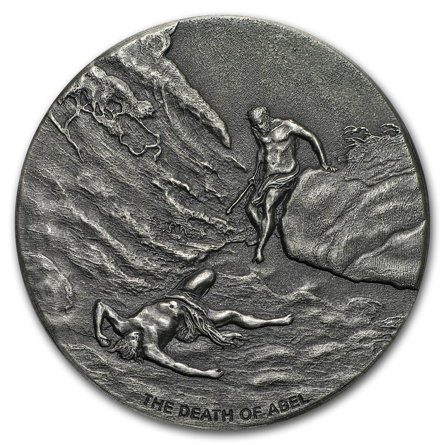 2017 2 oz Silver Coin - Biblical Series (The Death of Abel)
