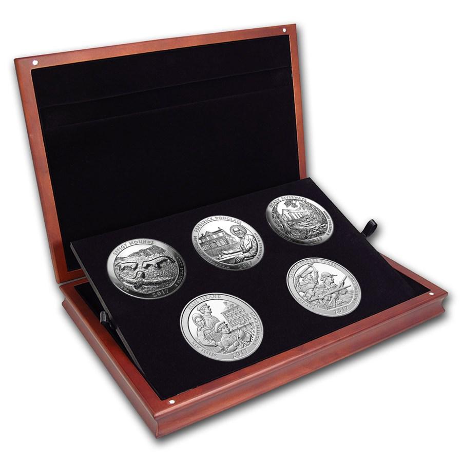 2017 5 oz Silver ATB 5-Coin Set (Elegant Display Box)