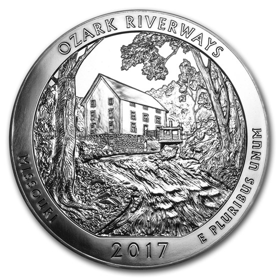 2017 5 oz Silver ATB Ozark National Scenic Riverways, MO