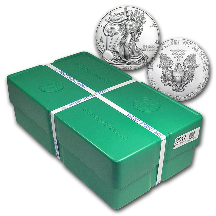 2017 500-Coin American Silver Eagle Monster Box (Sealed)