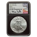 2017 American Silver Eagle MS-70 NGC (ER, Mike Castle Signed)