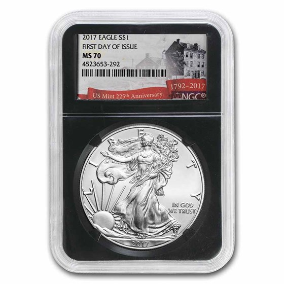 2017 American Silver Eagle MS-70 NGC (First Day Issue)