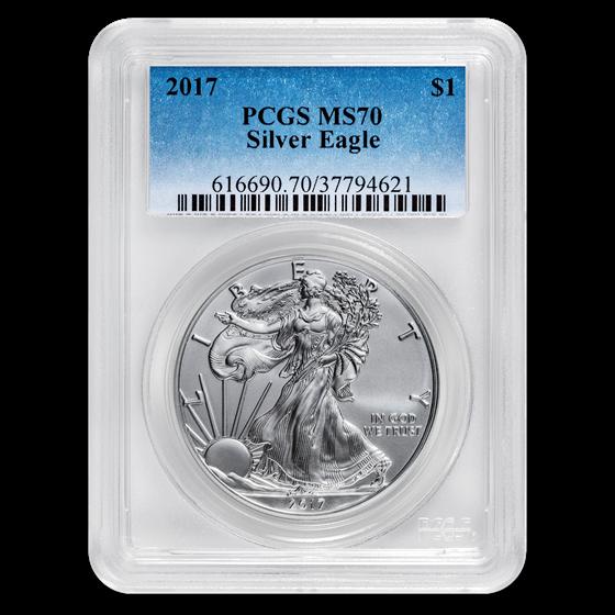 2017 American Silver Eagle MS-70 PCGS